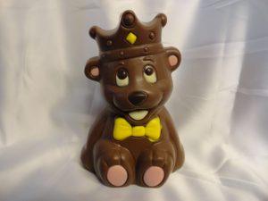 Prins de beer, een creatie van VDV Chocolaterie welkom