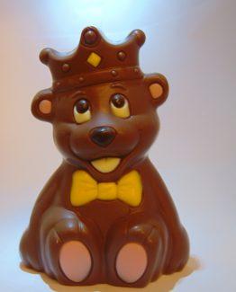 VDV Chocolaterie Online Bestellen Sint Sint-Maarten Sinterklaas chocolade Belgische chocolade Prins de beer met kroon in melkchocolade
