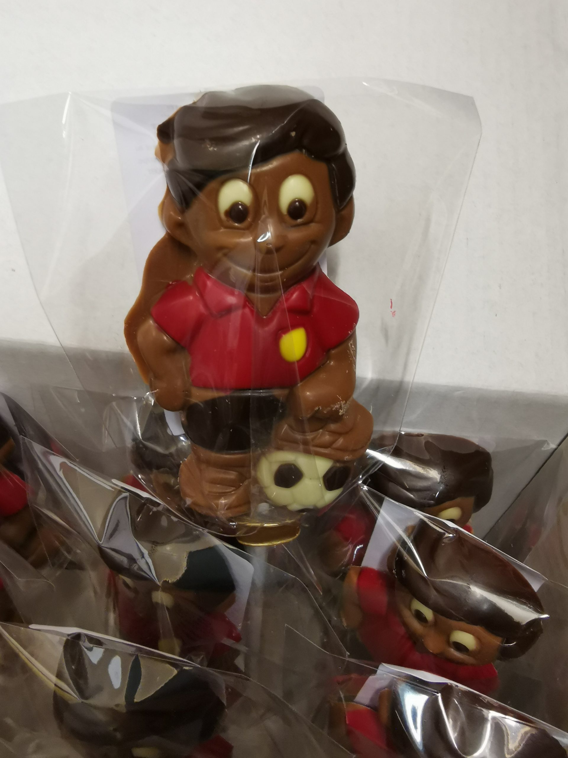 Kevin, de voetballer lolly in melkchocolade