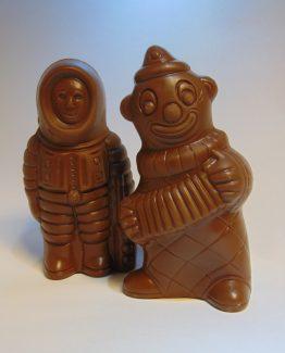 Holgoed in melkchocolade VDV Chocolaterie Sint Maarten Sinterklaas chocolade holgoed melkchocolade