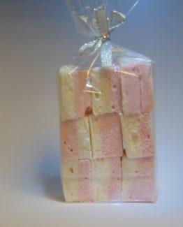 Vierkante malse spekken roze-wit VDV Chocolaterie