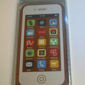 Chocoladen smartphone in melkchocolade VDV Chocolaterie