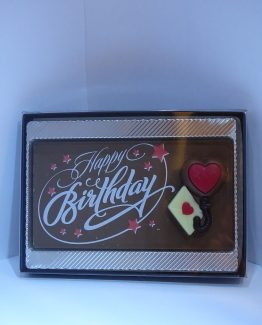 Happy Birthday in melkchocolade