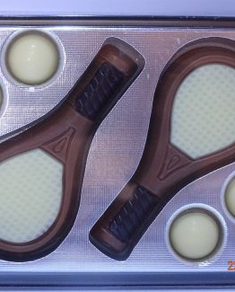 Tennis set in witte chocolade