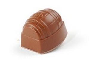 VDV Chocolaterie pralines tonnetje melk advocaat crème Belgische artisanale chocolade