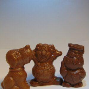Holgoed piepfiguren in melkchocolade piepfiguurtjes in melkchocolade VDV Chocolaterie sint Sint Maarten Sinterklaas chocolade holgoed melkchocolade