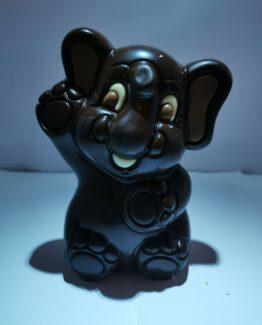 Victor, het olifantje in fondant chocolade